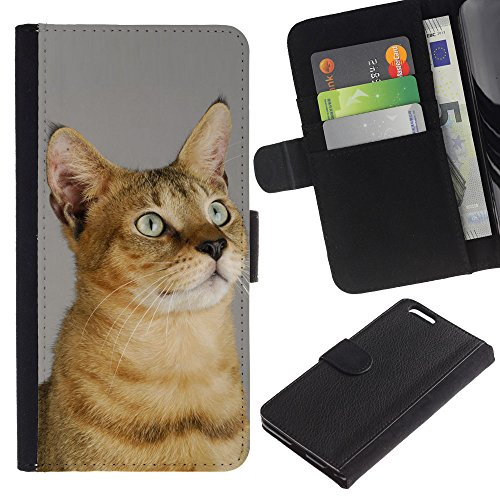 EuroCase - Apple Iphone 6 PLUS 5.5 - chausie Abyssinian Serengeti sokoke - Cuero PU Delgado caso cubierta Shell Armor Funda Case Cover