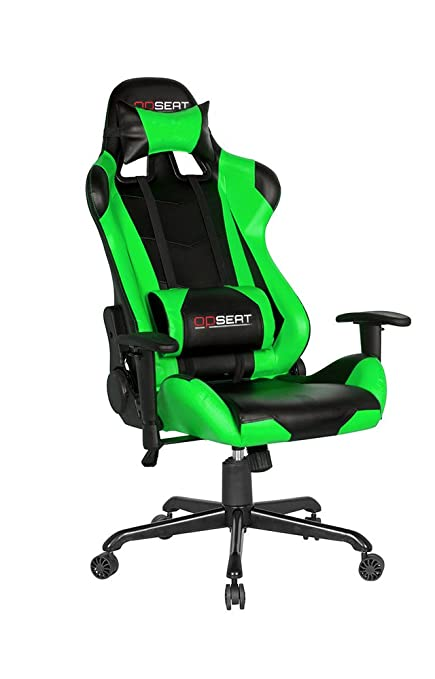 OPSEAT Master Series PC Gaming Chair Racing Seat Computer Gaming Desk Chair  (Green)