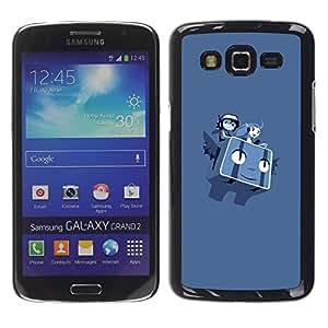CASEX Cases / Samsung Galaxy Grand 2 SM-G7102 SM-G7105 / Flying P0Kemon Characters # / Delgado Negro Plástico caso cubierta Shell Armor Funda Case Cover Slim Armor Defender