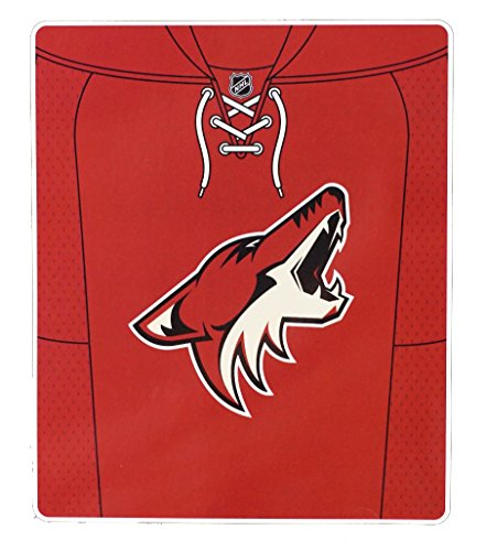 fan products of Officially Licensed NHL Arizona Coyotes Jersey Plush Raschel Throw Blanket, 50