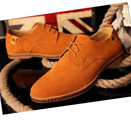 Hombre Cordones Planos Kamelfarbe con Zapatos AARDIMI SqwfaBxI