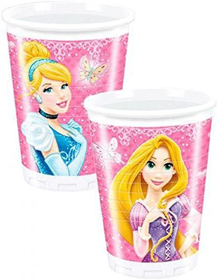 Pack 8 vasos fiesta Princesas Disney Glamour: Amazon.es: Hogar
