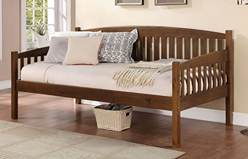 Major-Q 9039090 Mission Style Antique Oak Finish Daybed for Living Guest Room/Bedroom, Twin (Oak Twin Size Daybed)