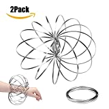 2 Pack Magic Flow Rings Kinetic Spring Bracelet Props, Decompression toys, Creative Gifts, Funny Outdoor Game Intelligent Relax Toy Fidget