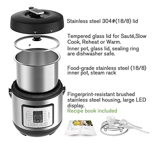 COSORI C2126-PC Cook Carry Digital Slow Cooker with Heat-Saver Stoneware, 6Quart, Silver