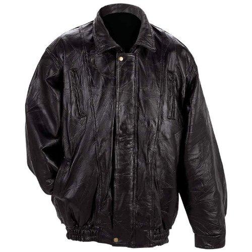 - Maxam Italian Mosaic Design Genuine Top Grain Lambskin Leather Jacket (MED)