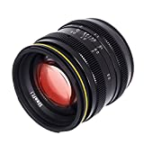 Kamlan 50mm F1.1 APS-C Large Aperture Manual Focus Lens, Standard Prime Lens Mirrorless Camera Roolad Lens Bag UV (Sony E)