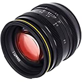 Kamlan 50mm F1.1 APS-C Large Aperture Manual Focus Lens, Standard Prime Lens for Mirrorless Camera with Roolad Lens bag and UV (SONY E)