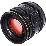 Kamlan 50mm F1.1 APS-C Large Aperture Manual Focus Lens, Standard Prime Lens for Mirrorless Camera with Roolad Lens bag and UV (MICRO 4/3)