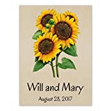 Set of 25 Personalized Seed Packet Favors Dwarf Sunspot Sunflowers (SN005) Open Pollinated Seeds by Seed Needs