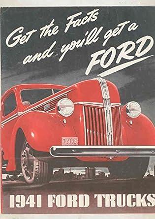 Amazon com: 1941 Ford Truck Brochure Poster Sedan Delivery