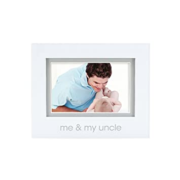 Amazon.com: Pearhead Me and My Uncle Photo Frame, White: Baby