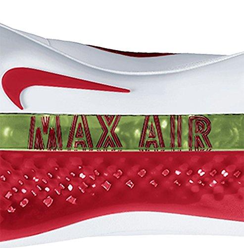 Nike Mens Air Huarache 2kfilth Elite Mid Tacchetta Da Baseball Rossa / Bianca