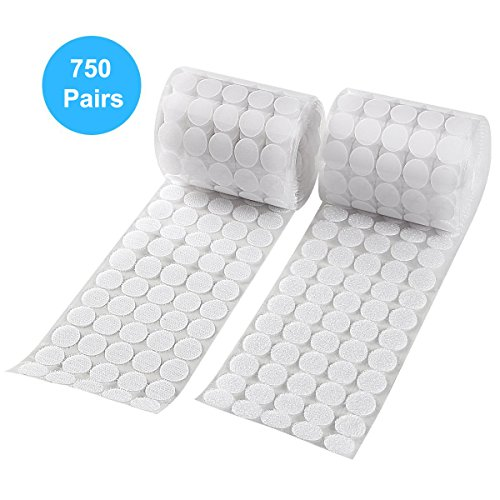 Sticky Back Coins Hook and Loop Dots Self Adhesive Dot Tapes Roll 3/4