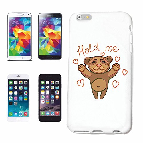 "cas de téléphone iPhone 7 ""TENIR ME DOUX OURSON POLAR BEAR TEDDY BEAR BEAR"" Hard Case Cover Téléphone Covers Smart Cover pour Apple iPhone en blanc"