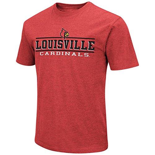 Colosseum Louisville Cardinals Adult Soft Vintage Tailgate T-Shirt - Red, Medium