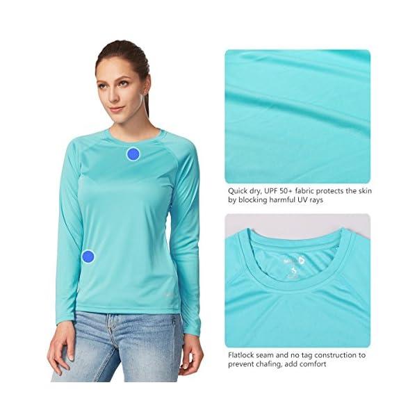 Sun Protection T-Shirt SPF Long//Short Sleeve Dri Fit Lightweight Shirt Outdoor Hiking BALEAF Womens UPF 50