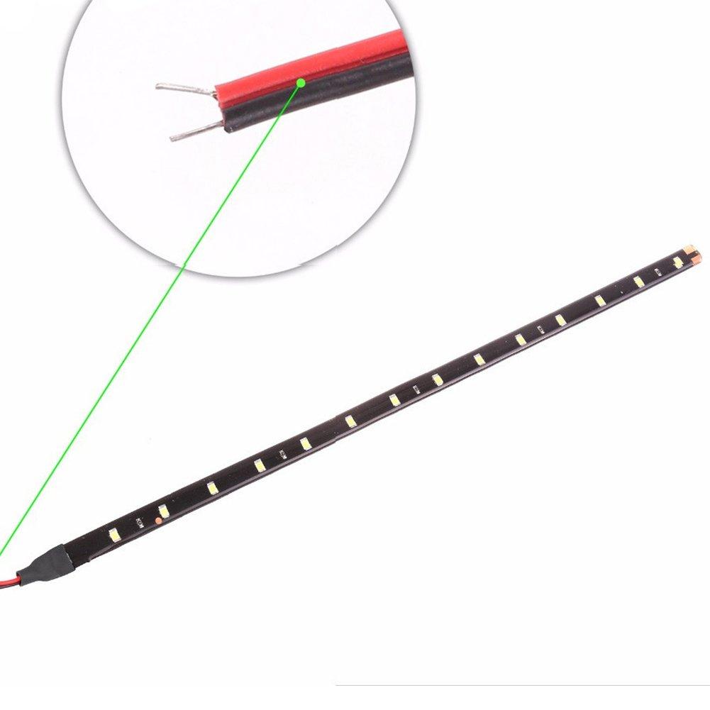 4-Pack Taben 12/V Auto Moto 30/cm LED flexible /étanche bande lumineuse Blanc 1210 15smd