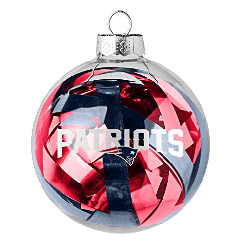 NFL New England Patriots Large Tinsel Ball Ornament