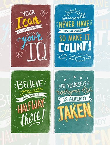 Kids Room Posters With Inspirational Motivational Phrases  Great As Gift For Boys Or Teens  Wall Art Decor With Quotes For Classroom