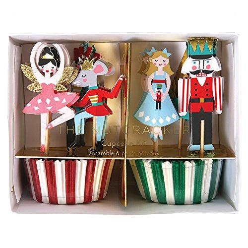 Meri Meri 45-2357 Nutcracker Cupcake Kit Novelty ()