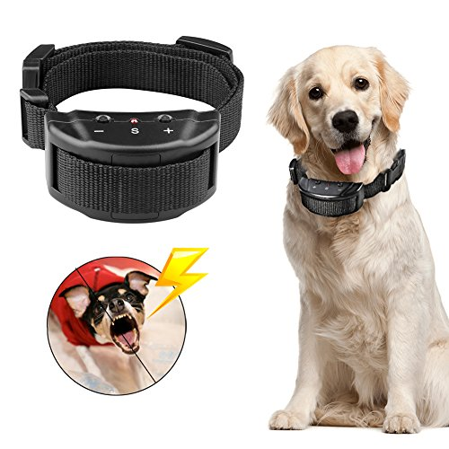 Humane Dog Training Anti Bark Collar,Harmless Control No Harm Vibration Reduce Barking Shock Controller Waterproof Battery Powered Pet Trainer Dog Bark Control Reviews