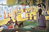 A Sunday afternoon on the island of la Grande Jatte (a river bank) by Georges Seurat 36x24 pointillist museum art print poster