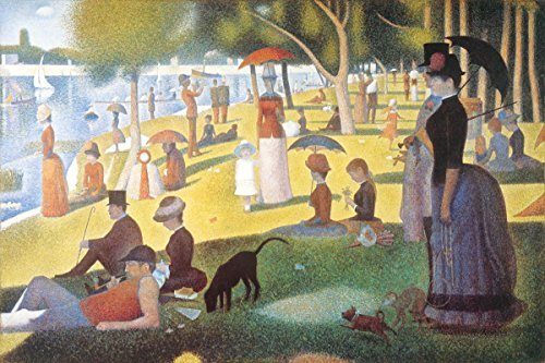 Buyartforless A Sunday Afternoon on The Island of La Grande Jatte (A River Bank) by Georges Seurat 36x24 Pointillist Museum Art Print Poster (A Sunday Afternoon On The Grande Jatte)