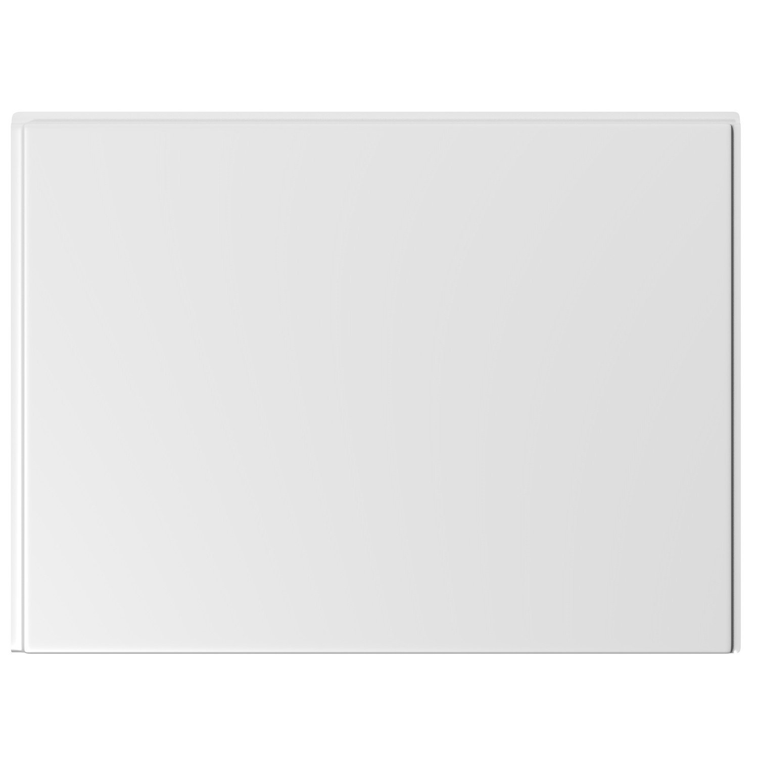 750mm Modern White Gloss Straight End Bath Panel iBathUK