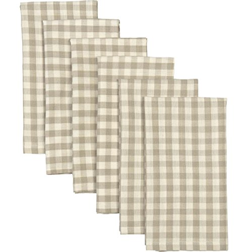 - VHC Brands Farmhouse Tabletop & Kitchen - Katie Grey Napkin Set of 6, Taupe