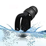 100% Waterproof Sweatproof IPX8 Bluetooth Earbud Mini Wireless Bluetooth V4.2+EDR In-Ear Earphone with Mic for iPhone and Android Smart Phones - Black