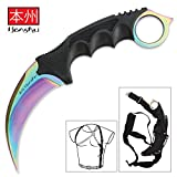 United Cutlery UC3113 Honshu Rainbow Tini Karambit & Shoulder Harness For Sale