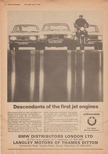 1971 BMW 2000, 2800CS, 2002 & MOTORCYCLE
