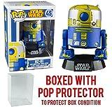 Funko Pop! Star Wars: R2-B1 #45 (Gamestop Exclusive) Vinyl Bobble-Head Figure (Bundled with Pop BOX PROTECTOR CASE)