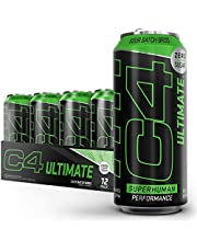 C4 Ultimate Sugar Free Sparkling Energy Drink Pre Workout Performance Drink with No Artificial Colors or Dyes, Sour Batch Bros, 16 Fl Oz (Pack of 12)