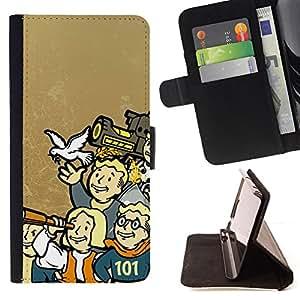 BullDog Case - FOR/LG G3 / - / Vault Boy Family - Funny - Fall0Ut /- Monedero de cuero de la PU Llevar cubierta de la caja con el ID Credit Card Slots Flip funda de cuer