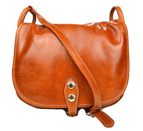 Ladies handbag leather bag clutch hobo bag shoulder bag brown crossbody bag honey black made in Italy genuine leather by ItalianHandbags