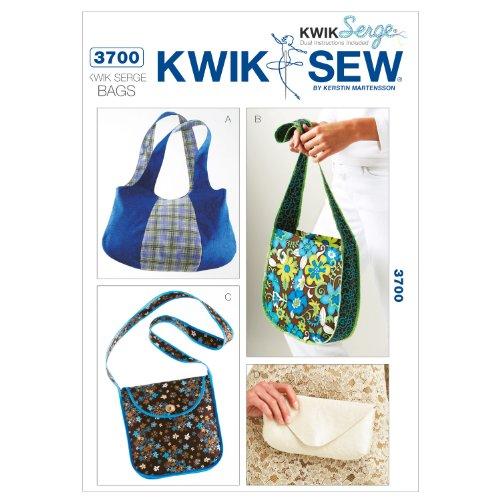 (Kwik Sew K3700 Kwik Serge Bags Sewing Pattern, No Size)