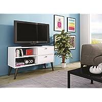 Manhattan Comfort Dalarna 35 TV Stand in White