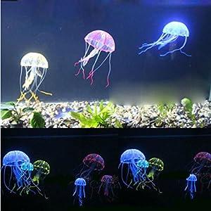 SRI Happie Shop Aquarium Underwater Glowing Effect Multicolour Jelly Fish (Big, 7 Inch In Length)