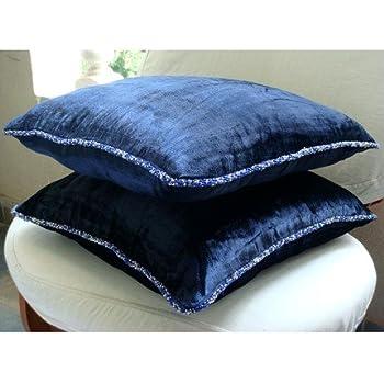 Amazoncom 22x22 Throw Pillow Cover Navy Blue Throw Pillows