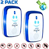 PestAid 2019 Ultrasonic Pest Repeller – 4-Pack Plug-In Electronic Pest Repeller for Indoor Use – Human and Pet Friendly – Ideal Against Mice, Spiders, Mosquitos, Flies, Ants, Cockroach Repeller