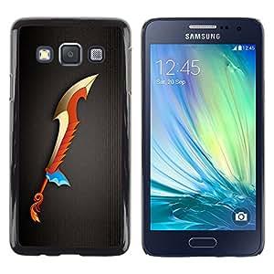 Caucho caso de Shell duro de la cubierta de accesorios de protección BY RAYDREAMMM - Samsung Galaxy A3 SM-A300 - Magic Sword