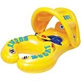 BUCKY SWIM - Mom & Baby Boat, Baby Swim Float, Children Inflatable Swimming Floatie Toys for Bathtub and Pool, Highest Quality Toxic-Free Materials, Roll-Over Protection Design