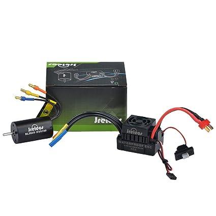Jrelecs 2845 3100KV 4P Sensorless Brushless Motor & 45A Brushless ESC  Electronic Speed Controller for 1/14 1/16 1/18 RC Ca (2845 3100KV)