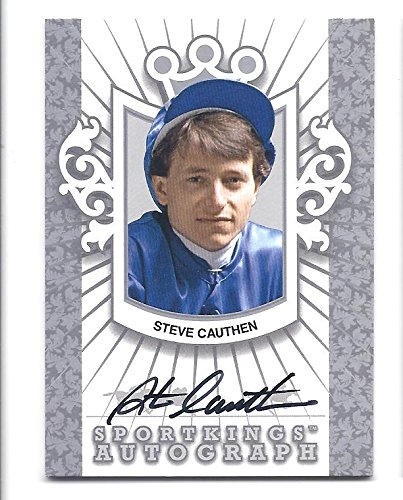 - STEVE CAUTHEN 2012 Sportkings Series E #ASCA2 Silver Autograph Card Only 80 Made! Horse Racing Jockey