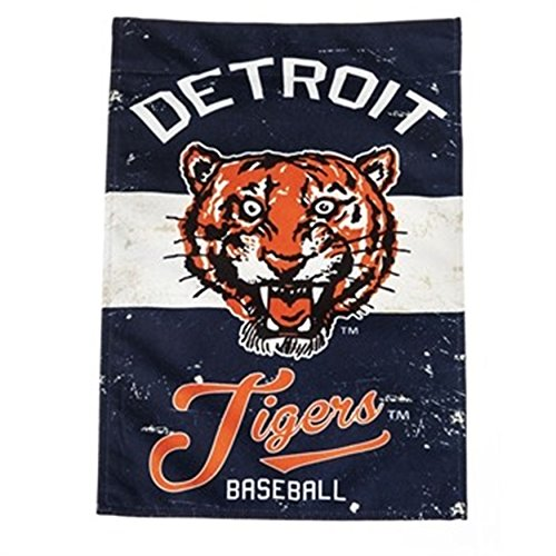 Stockdale Detroit Tigers EG VINTAGE Retro BANNER Premium 2-sided 28x44 House Flag Baseball