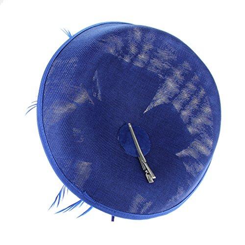 EOZY Mujer Tocado de Boda Sombrero Vintage Azul Marino Claro  Amazon.es   Ropa y accesorios 5abfe4c49ee