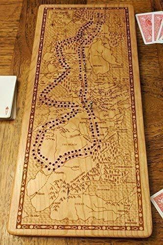 B076YSXVMN Game of Thrones - Westeros Cribbage Board 51emGmst8PL