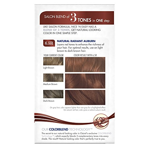 Clairol Nice 'N Easy Hair Color 112 B Natural Radiant Auburn 1 Kit (Pack of 12) by Clairol (Image #4)